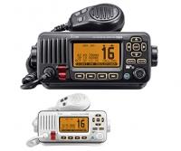 Radioteléfono VHF marino Icom IC-M323G con DSC y receptor GPS integrado - VHF Fijo con DSC, estanco IPX7, que lleva internamente un receptor GPS. Gracias a esto no es necesario conectar el VHF a algún GPS o Plotter/GPS del barco ni instalar una antena activa de GPS