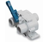 Valvula 3 vias para WC - Válvula para WC, fabricada en nylon, con dos posiciones de descarga.