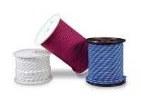 Driza nautica alta tenacidad - Driza náutica de alta tenacidad. Diámetro: 6, 8, 10 o 12 mm. Color: Blanco, Azul o Rojo.   Precio por metro.   Cantidad mínima 5 mts.