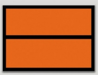 Panel Naranja Clasificación de Producto - Etiqueta de señalización para mercancias peligrosas..   Autoadhesivas de 300x400 mm .   Material vinilo Autoadhesivas