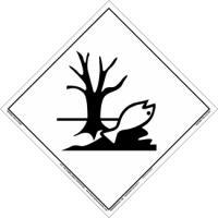 Etiqueta de Señalización IMDG Clase P: Marine Pollutant - Etiqueta de señalización para mercancias peligrosas..   Material vinilo Autoadhesivas de 300x300 mm para contenedores