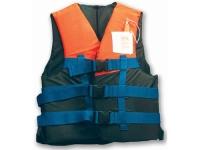 Chaleco para Ski nautico CE 50N - Chaleco salvavidas para Ski nautico.   Chaleco multicolor muy atractivo con tres cinchas ajustables..   Modelo adulto para mas de 70 kg