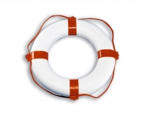 Aro Salvavidas Blanco - Aro Salvavidas con cubierta de PVC soldado, en color blanco.   Ø exterior 60 cm.   Ø interior 35 cm