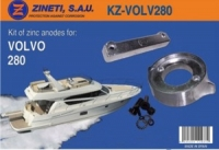 Kit Anodos Volvo 280 - Kit completo de montaje para cola VOLVO 280.   Material: Zinc.   Peso: 1,940 kg