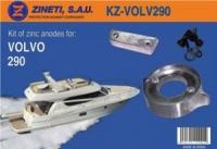 Kit Anodos Volvo 290 - Kit de montaje completo para la cola VOLVO 290.   Material: Aluminio.   Peso: 1,732 kg