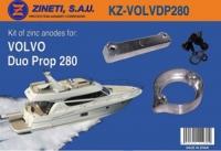 Kit Anodos Volvo Duo Prop 280 - Kit de montaje completo para la cola VOLVO DUO PROP 280.   Material: Zinc.   Peso: 1,820 kg