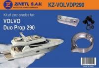 Kit Anodos Volvo Duo Prop 290 - Kit de montaje completo para la cola VOLVO DUO PROP 290.   Material: Zinc.   Peso: 1,620 kg