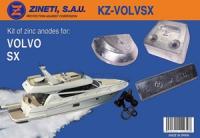 Kit Anodos Volvo SX - Kit de montaje completo para la cola VOLVO SX.   Material: Zinc.   Peso: 2,320 kg