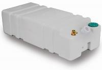 Deposito Rigido SHARK para Agua Potable, con adaptador para manguera a 45º. Capacidad 45, 55 o 65 L - Depósito de polietileno blanco de alta resistencia, con adaptador de manguera de 35 mm a 45º, para almacenar agua potable a bordo..   Capacidad: 45, 55 o 65 Litros, según modelo.