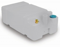 Deposito Rigido SHARK para Agua Potable, con adaptador recto para manguera. Capacidad 45, 55 o 65 L - Depósito de polietileno blanco de alta resistencia, con adaptador recto de manguera de 35 mm.para almacenar agua potable a bordo..   Capacidad: 45, 55 o 65 Litros, según modelo.
