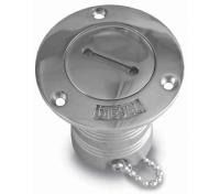 Tapon de Llenado Diesel Inox con llave Ø 50 mm - - Tapón de llenado para diesel en inox..   - Apertura con llave..   - Llave incluida.   - Diámetro: Ø 50 mm