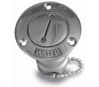 Tapon de Agua Inox con llave.  Ø 38 mm - - Tapón de llenado Water inox.   Se abre con llave de dos puntas incluida.
