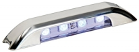 Luz LED de Cortesia Inox IP67, Iluminacion Lateral 12/24V - Luz de Cortesía Led, color blanco, con iluminación Lateral..   Dimensiones:.   Largo: 71 mm , Ancho: 15 mm, alto: 10 mm.   Voltaje: 12/24V