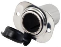 Conector Marino Inox. Tipo Mechero 12V - Conector Tipo Mechero de acero inoxidable..   Esta toma de corriente es ideal para conectar todo tipo de equipos que necesitan corriente como linternas , teléfonos  móviles etc..   Alimentación 12V
