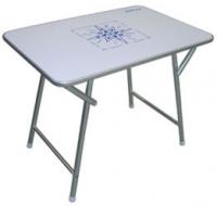 Mesa Plegable Anti-Humedad Aluminio - Mesa de abordo rectangular plegable.   Estructura de aluminio..   Superficie tratada anti-humedad.   Altura: 60 cm..   Tablero: .   70 x 90 cm o 70 x 110 cm