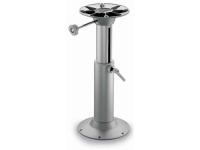 Pedestal telescopico para asiento - Pedestal telescopico para asiento, fabricado en aluminio anodizado. .   Regulación de la rotación por medio de un pomo..   Permite el giro de 360º.   Ø tubo 90 mm. - Ø base 240 mm. - Altura: 400 / 600