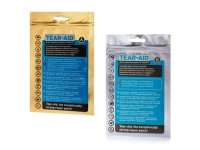 Tear-Aid. Kit reparacion directa de agujeros y raspaduras - Tear-Aid es un producto transparente para reparaciones único, con el que se pueden reparar agujeros y roturas de casi todo tipo de material. Posee una elasticidad y resistencia sin precedentes.