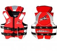 Chaleco Salvavidas Neopreno Jason V5 100 Newtons, para Moto de Agua - Chaleco Neopreno para Moto de Agua. .   Cierre y ajustes con 2 correas.   Disponible en color Amarillo o Rojo.