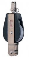 Polea Simple Giratoria con Arraigo 8-10 mm - Polea simple, giratorio con arraigo, para cabo de 8 / 10mm  Peso (gramos)