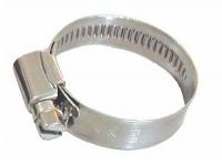 Abrazadera Plana Inox AISI 304 - Estas abrazaderas se fabrican para uso marino. Todos sus elementos son de acero inoxidable 304. Los extremos están torneados para no dañar el tubo. Disponibles en varios tamaños desde 8mm a 40mm y con un ancho de 9mm.