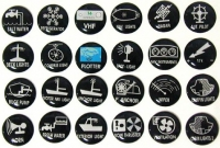 Etiquetas Auto-Adhesivas para Paneles de Control SP - Juego 24 unds. - Estas etiquetas son ideales para el uso en los paneles de control. Son fáciles de colocar y de leer..   Cada juego contiene 24 etiquetas.