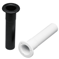 Portacañas Empotrable de Plastico Vertical - Cañero vertical de plástico, disponible en color blanco o negro..   Diámetro Int.: 40 mm.   Alto: 235 mm