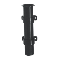 Portacañas de Plastico para montaje lateral - Cañero de plástico para montaje lateral, disponible en color blanco o negro..   Diámetro Int.: 40 mm.   Alto: 225 mm