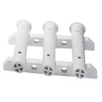 Bastidor montaje mamparo 3 cañas - Bastidor de 3 cañas para montaje en mamparo..   Longitud: 300 mm.   Altura: 225 mm.   Color: blanco