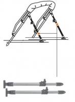 Soporte telescopico para Bimini con gozne de cubierta 71 - 122cm - Accesorios para todillos.   Soporte telescópico de 71 - 122cm, para toldillos..   Precio por unidad
