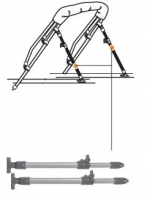 Soporte telescopico para Bimini con gozne de cubierta 71 - 122cm