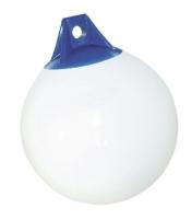 Defensa esferica Hercules Plus color Blanca y Azul - Las Defensas Hércules PLUS se han diseñado para condiciones duras donde una resistencia al oleaje y abrasión son de gran importancia.