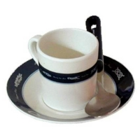 """Tazas de cafe expreso """"Exclusive"""" Juego 6 Piezas - El conjunto Expreso contiene 6 tazas de café y 6 platos. Tanto las tazas como  los platos, están hechos 100% de melamina y se puede utilizar en el microondas sin ningún problema."""