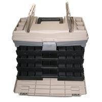 Caja de Pesca Extra Grande SC2000 - Caja de pesca extra grande, con 4 cajones, especial para almacenar jigs o cebos..   Tamaño: 43,5 cm (largo) x 23,5 cm (ancho) x 30 cm (alto)