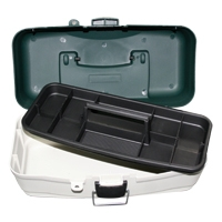 Caja de Pesca estanca - Caja de pesca estanca con una bandeja, especial para almacenar jigs o cebos..   Color verde-gris.   Tamaño: 34 cm (largo) x 17,8 cm (ancho) x 15 cm (alto)