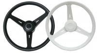 """Volante Classic 350 mm - La rueda de timón deportivo """"Classic"""" se fabrica en polipropileno con un diametro de 350 mm. Su diseño ergonomico lo hace ideal para uso en pequeñas motoras..   Disponible en color blanco y negro"""