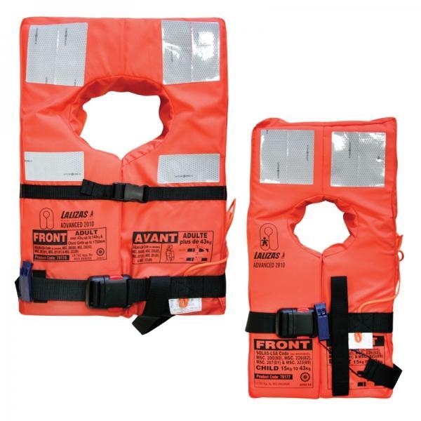 Chaleco salvavidas avanzado SOLAS- (Código IDS) 2010 - Estos chalecos se fabrican para equipar a todos los buques comerciales. Cumplen plenamente con los requisitos de las regulaciones (reglas de la OMI), que son obligatorios para todos los chalecos salvavidas utilizados de a bordo de buques comunitarios