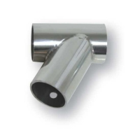 Conector T 60° Diam. 25mm, Inox 316 - Conector T 60 Grados Diam. 25mm, Inox 316.   Fabricado en acero inoxidable AISI 316.   Unión T con ángulo de 60º.   Grosor: 1mm.   Tubo Ø Int. 25 mm.
