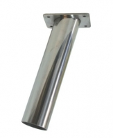 Portacañas Empotrable Inox AISI 316 - Cañero en acero inoxidable 316..   Diámetro:: 4,44 cm.   Largo: 19,5 cm.   Base: 8 x 5,9 cm.