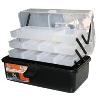Caja de Pesca SC2080 - Caja de pesca con 3 bandejas, especial para almacenar jigs o cebos..   Tamaño: 36,5 cm (largo) x 21 cm (ancho) x 22 cm (alto)