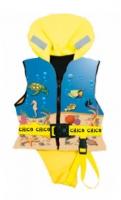 Chaleco salvavidas infantil, Chico 100N, ISO 12402-4 - El chaleco salvavidas Chico 100Nt proporciona un buen ajuste ergonomico y maxima seguridad.