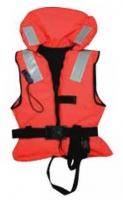 Chalecos salvavidas 100N, CE ISO 12402-4 - Diseñados para mantener una persona inconsciente boca arriba y con las vias respiratorias fuera del agua. Un collar con flotacion aguanta la cabeza y el diseño del chaleco proporciona la capacidad de girar a la persona a una posicion segura.