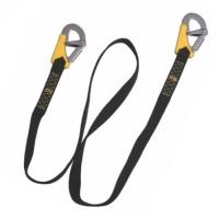 Linea de vida de 185 cm para arneses de seguridad - Linea de seguridad Life-Link, doble, ISO 12401.   Con dos mosquetones de doble seguridad..   Longitud 185 cm.