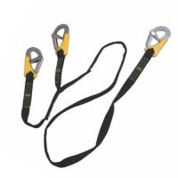 Linea de vida Triple de 200 cm para arneses de seguridad - Linea de seguridad Life-Link, triple ISO 12401.   Con tres mosquetones de doble seguridad..   Longitud 200 cm.