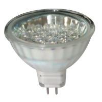 Bombilla 12V LED, MR16, blanco frío - 20 LEDs