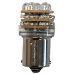 Bombilla 12V 18 LED BA15S para Luces de navegacion - Bombilla 12V, LED - T18 BA15S.   18 LED blanco frío por bombilla.   Pasadores paralelos.   Contacto simple en la base.   Luz Rango de voltaje de DC 10.5V-15.8V.   Bajo consumo de energía.   Funciona con algunas luces de navegación de palo, para sustituir la bombilla estándar por una bombilla LED.   Servida por unidad