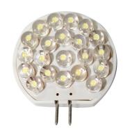 Bombilla 12V LED, T30, blanco - 21 LEDs - Bombilla LED con conexión G4..   T30.   Datos Técnicos.   Alimentación 12.   Lumen 157,5 lm.   LEDs 21.   Color Blanca.   Dimensiones: 40x30x8,2mm