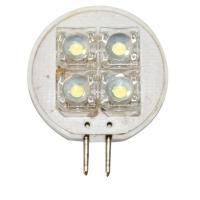 Bombilla 12V LED, T25, blanco - 4 PIRANHA LEDs - Bombilla LED con conexión G4..   T25.   Datos Técnicos:.   Alimentación 12.   Lumen 30 lm.   LEDs 4 PIRANHA LEDs.   Color Blanca Frio.   Dimensiones: 37x25x8,2mm