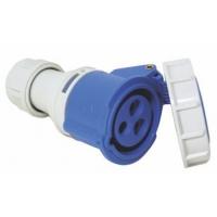 Enchufe hembra con tapa de seguridad 16A, 220-240V, azul
