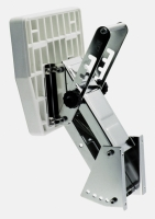 Soporte Fueraborda para motores hasta 50kg - Soporte basculante de acero inoxidable y tabla de plástico para motores de hasta 50 kg..   5 inclinaciones ajustables de acuerdo al espejo de popa..