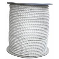 Cabo de amarre y fondeo poliester blanco de 3 cordones